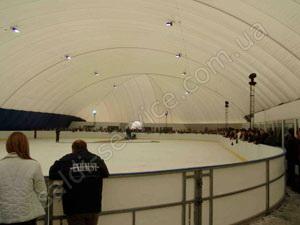 Pole ice rink inside
