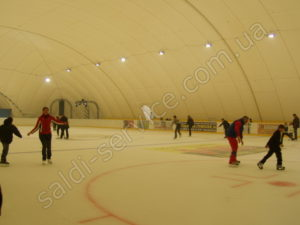 The ice stadium in Nikolaev inside