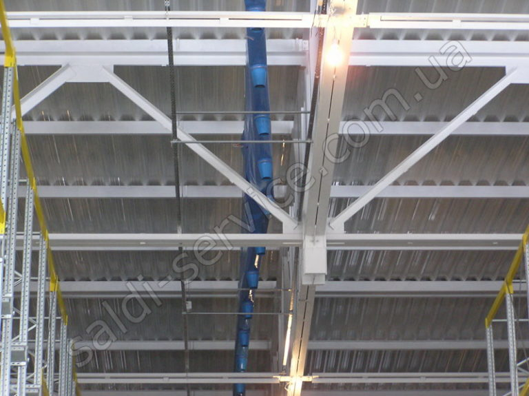 Можтаж вентизации на складах кондитерской фабрики «Конти»