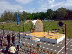 Намет в Києві на змаганнях