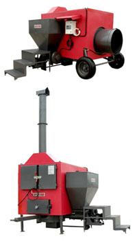 Система твердопаливного повітряного обігріву