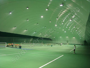 "Tennis club ""Lugansk tennis courts"" inside"