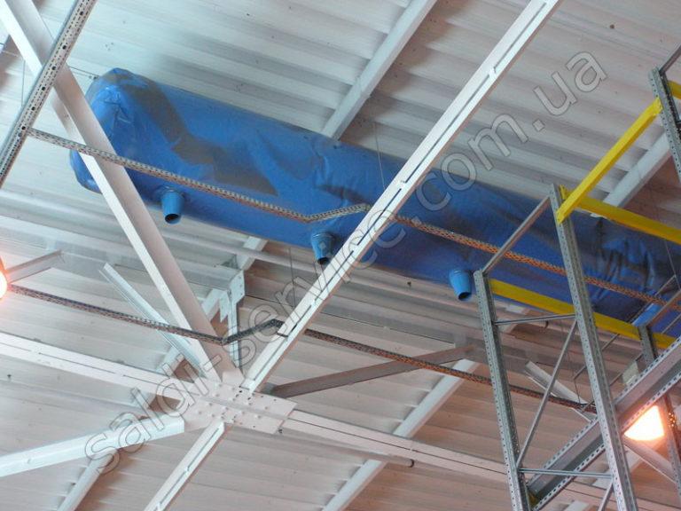 Вентиляция на складах кондитерской фабрики «Конти»