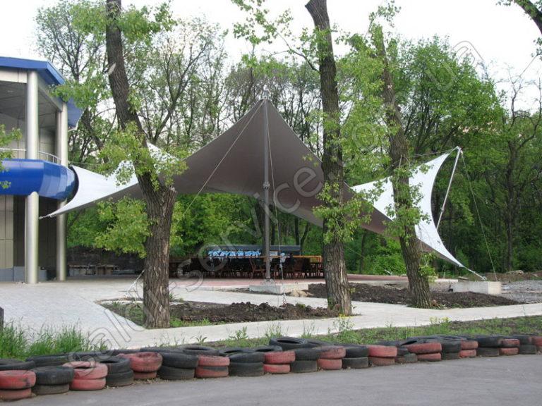 Архитектурная тентовая растяжка в Донецке