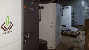 Block-modular boiler room based on automatic solid fuel boilers