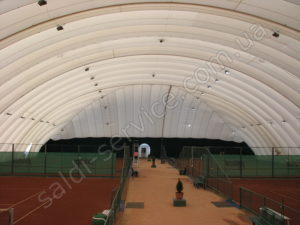 """The complex of tennis courts """"Victoria"""" inside"""