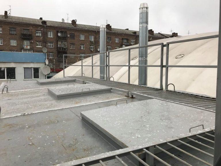 Крыша котельни админ корпуса и теннисных кортов