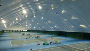 LED floodlighting tennis courts