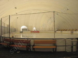 Ice rink in the city of Bila Tserkva inside