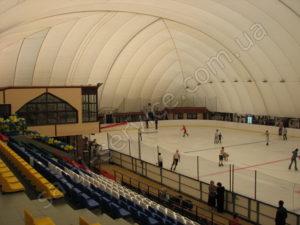 Ice rink in Gorky park inside