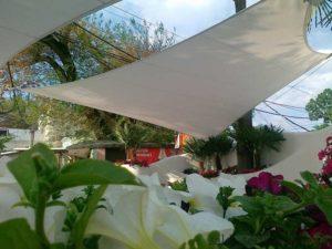 Lightweight architectural streamers Ibiza club