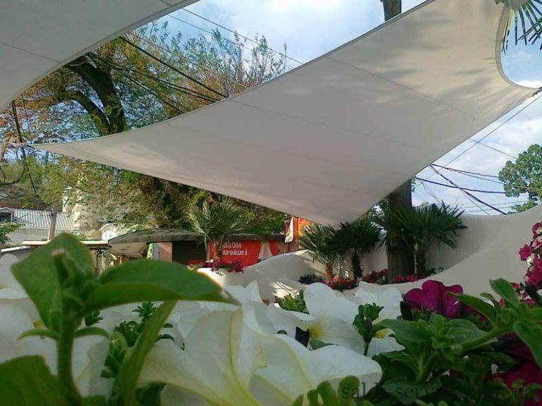 Легкие архитектурные растяжки клуб Ibiza