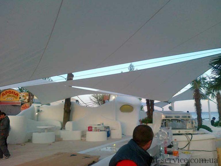 Легкие архитектурные растяжки клуб Ibiza Одесса