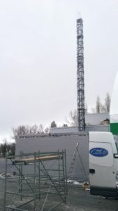 Metal support mast for the chimney Kiev