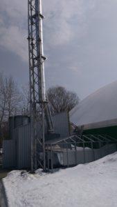 Металева опорна щогла для димоходу в Києві
