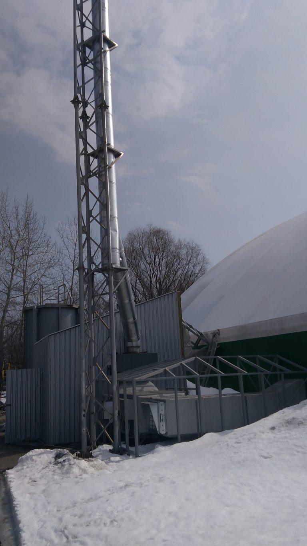 Металлическая опорная мачта для дымохода в Киеве