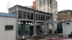 Metalwork for heating the admin building and tennis courts Kiev