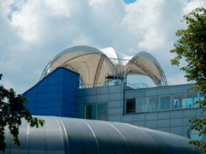 Metalwork under the cover of the Nemo Dolphinarium