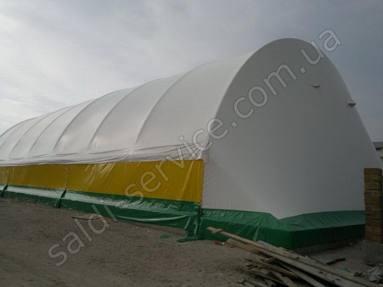 Металлоконструкция с тентовым покрытием в Коблево