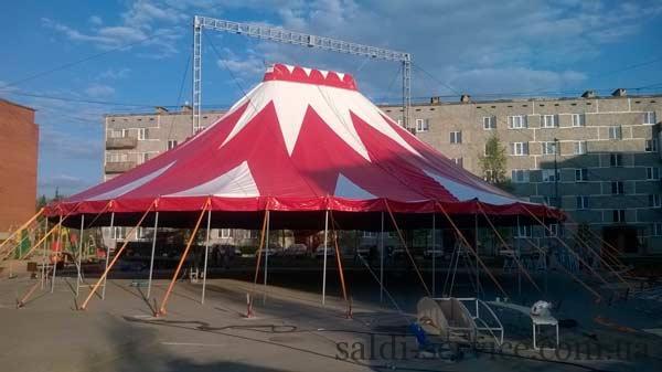 Монтаж тентовой конструкции цирк-шапито Латвия