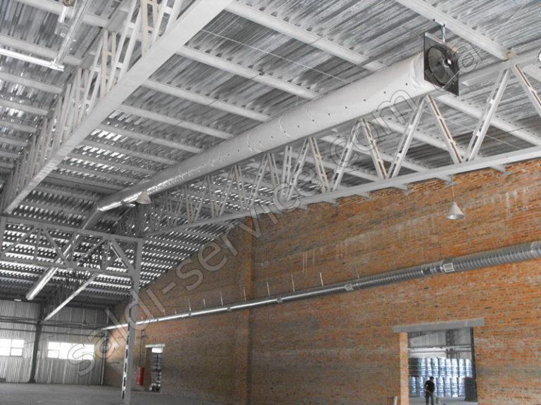 Монтаж вентиляции в складских помещениях