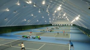 Lighting of tennis courts with LED floodlights in Kiev
