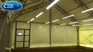 Awning hangar lighting in Moshurov