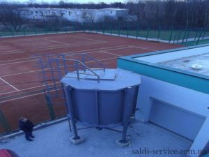 Heating of tennis courts in Lviv