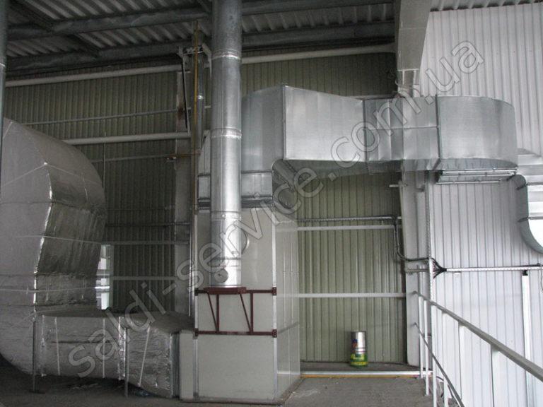 Производственные цеха «Импресс-Украина» вентиляция