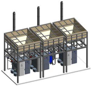 Схема конструкції для забезпечення обігріву адмін корпусу і тенісних кортів