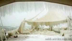 Сніг на тентової конструкції Одеса