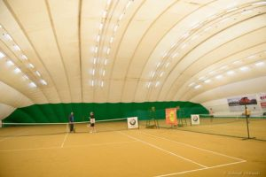 LED lighting of two tennis courts in the city of Kharkov
