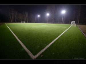 LED lighting for the Bucha football stadium