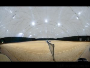"LED lighting for tennis courts ""Courts on the Hem"""