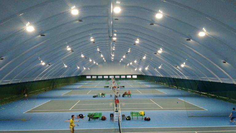 Светодиодное освещение теннисных кортов прожекторами