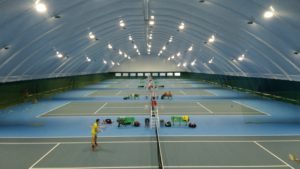 LED lighting of tennis courts with floodlights Kiev