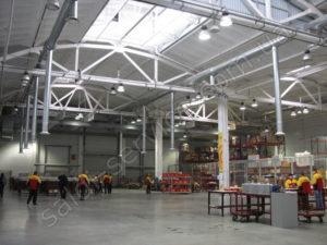 Bonded warehouses DHL ventilation