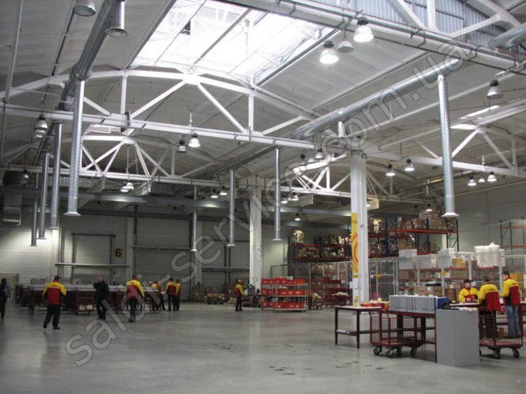 Таможенно-логистические склады DHL вентиляция