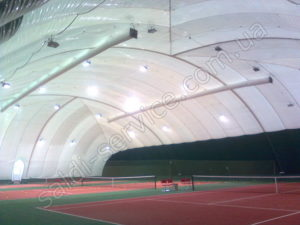 Tennis courts in Lugansk inside
