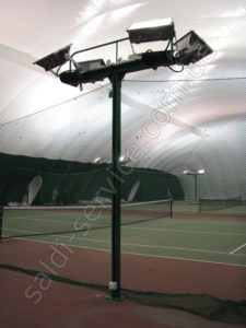 Tennis courts in Mariupol lighting