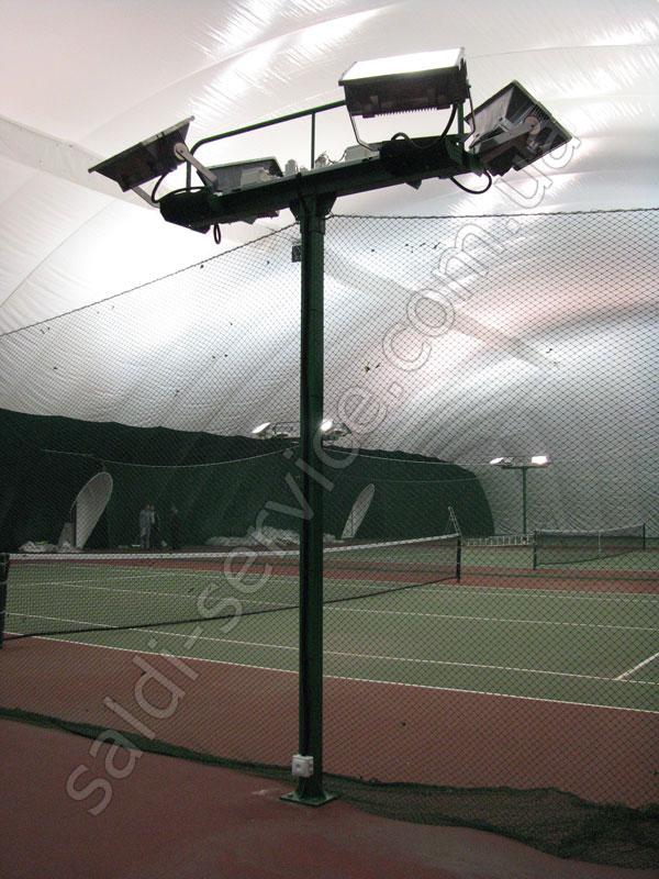 Теннисные корты в Мариуполе освещение