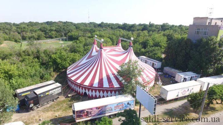 Тентовая конструкция цирк «Шекера»