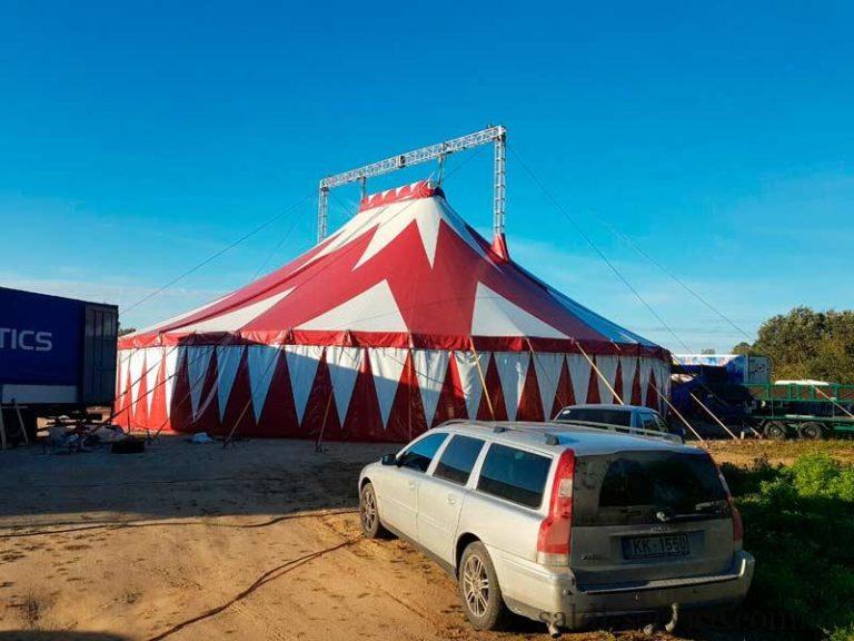 Тентовая конструкция цирка шапито в Латвии
