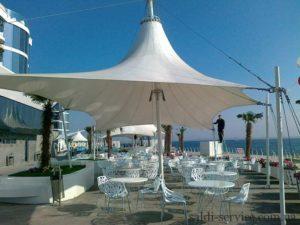 Awning design for cafe Odessa
