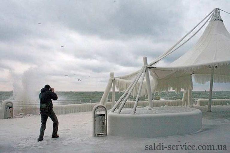 Тентовая конструкция вод снегом Одесса