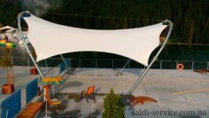 Awning design in Bukovel