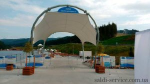 Awning arch extension in Bukovel