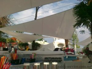 Awning extension in Ibiza club Odessa