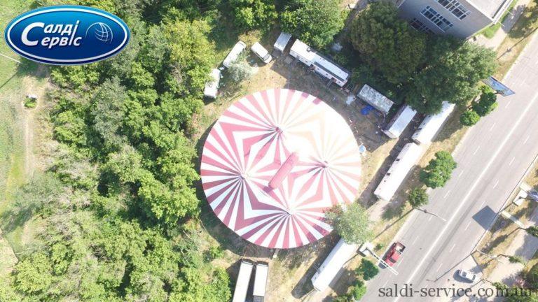 Тентовое сооружение цирк «Шекера»