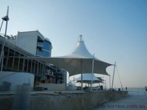 Awning designs on the coast of Odessa
